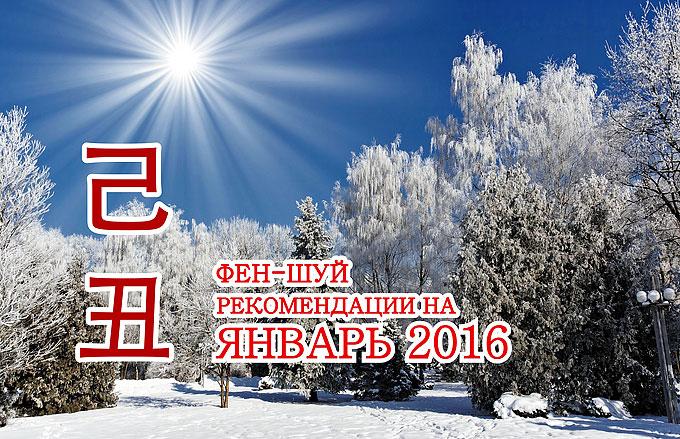 Рекомендации фен-шуй на январь 2016